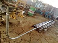 Swaged tubular poles