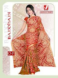 printed bandhani sarees Manufacturers